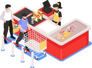 Adquisición de alimentos o productos de primera necesidad